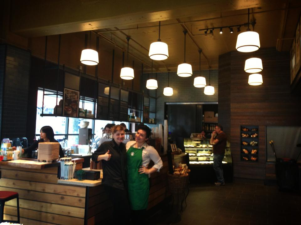 Interior of Starbucks