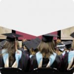 Commencement ceremony from the perspective of seated graduate