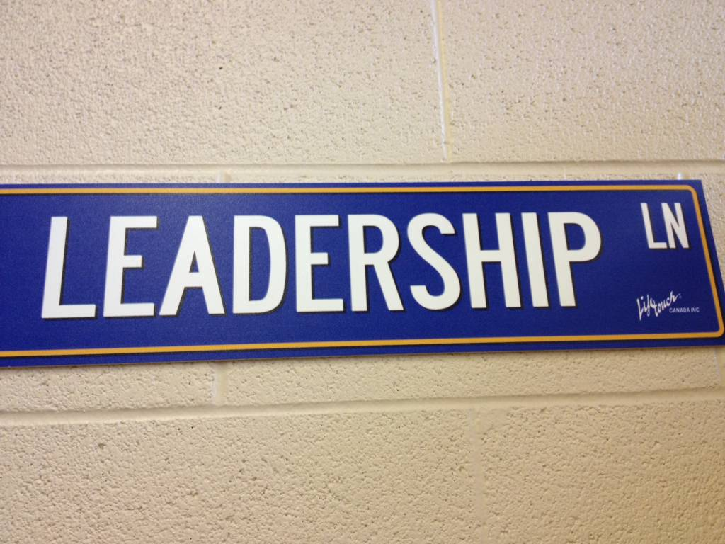 Leader Leadership Sign