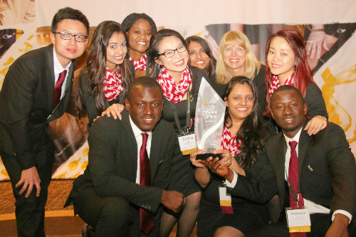 Students after Enactus competition