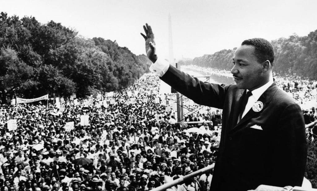 Picture of Dr King Speaking