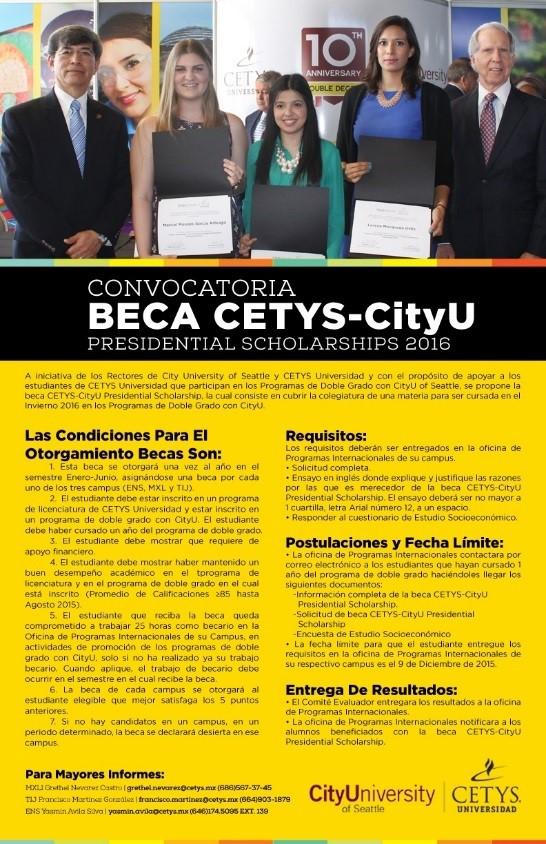 CETYS-CityU Presidential Scholarship