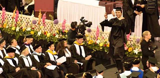 Christian Kaoukabani at commencement