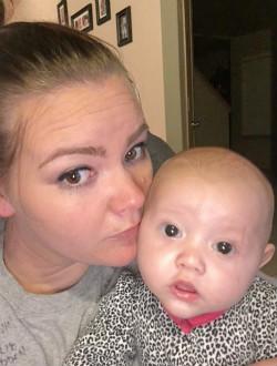 Jennifer Moreau and baby