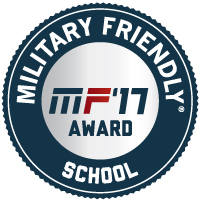 2017 Military Friendly School Badge
