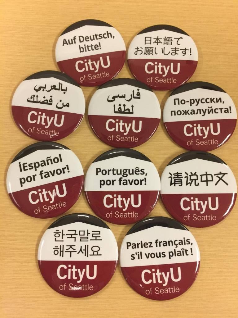 Language buttons