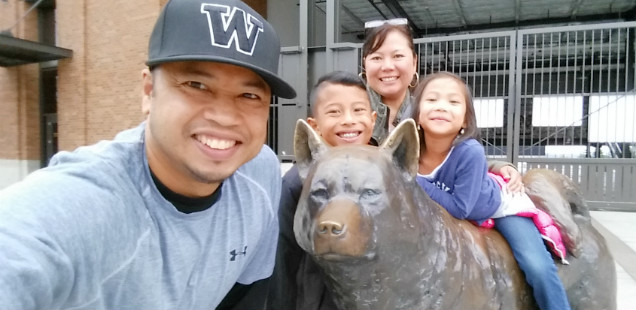 Victor Flores and his family
