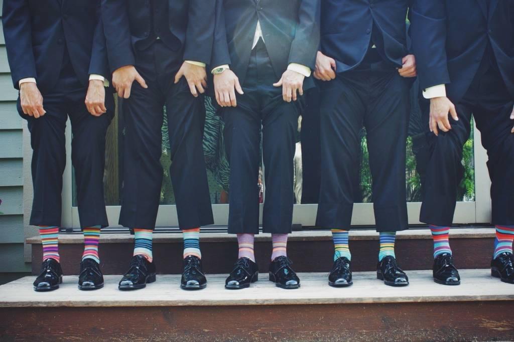 Socks in crazy colors