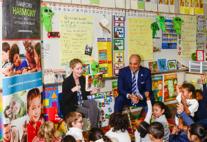 Chancellor Cunningham visits a Harmony Champion School - John Bidwell Elementary in Sacramento, CA.