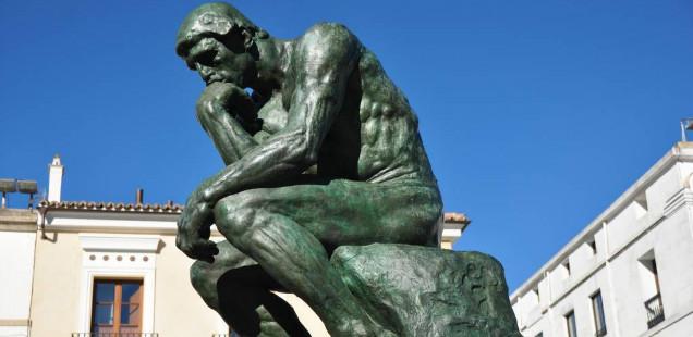 "Auguste Rodin's ""Thinker"" sculpture"