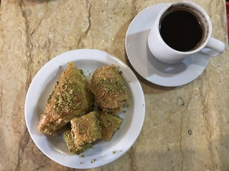 Arabic Coffee and Baklava