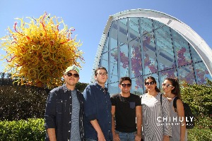 Daniel and friends at the Chihuly Garden and Glass Museum