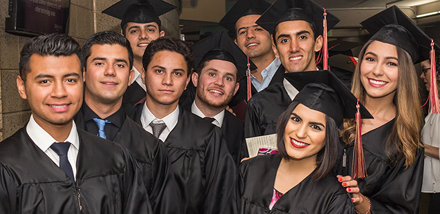 Students at 2017 Commencement
