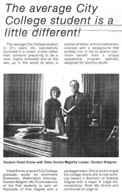 Violet Krone Newspaper Story