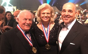 Dr. Cunningham with Denny Sanford and IBM CEO Ginni Rometty, who were honored with the Horatio Alger Award in Washington, D.C.