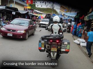 Christina Tkacs crosses the border into Mexico.