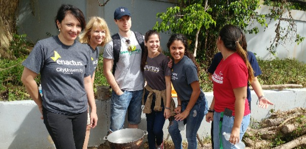 Enactus students in Puerto Rico
