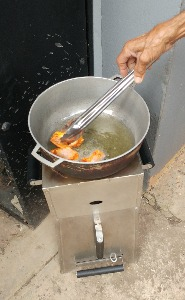 Chicken wings on the Green Energy Center stove