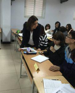 Christine Knorr teaching in Vietnam